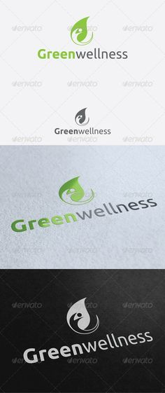 Green Wellness - Logo Design Template Vector #logotype Download it here: http://graphicriver.net/item/green-wellness-logo-template/2783930?s_rank=741?ref=nexion