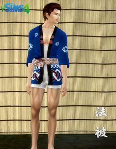 Happi Japanese festival costume 【 TS4 Download 】 - roseam