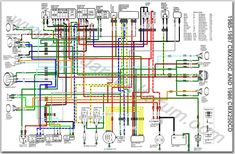 charging system section of the simplified wiring diagram for xs400 rh pinterest com Universal Street Rod Wiring Harness 1986 Honda Rebel Wiring-Diagram