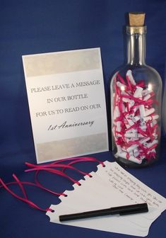 Large Message In A Bottle Alternative Guest Book. Only in purple, not pink