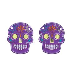 Sugar Skull Purple : Schwings Shoe Wings