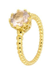 Majestic Rose Quartz Ring By Laura Gravestock