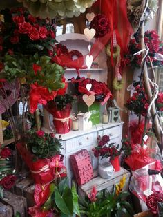 All things valentine's in the shop today. www.tippettsflorist.com
