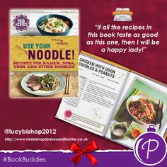 UK #BookBuddy blogger Mrs Bishop couldn't have been more impressed with our 'Food Heroes: Use Your Noodle' cookbook! Read the full review over on the 'Mrs Bishop's Bakes and Banter' blog.