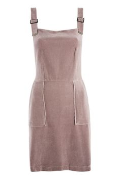 9fda888dbcf9 Details about NEW TOPSHOP DUSKY PINK CORD VELVET PINAFORE DUNAGREE DRESS 8  to 16 RRP £34