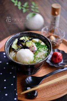 花ヲツマミニ「茄子の揚げ出しおろし柔麺」
