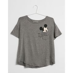 BSK Mickey Mouse pocket T-shirt T- Shirts Bershka United Kingdom ❤ liked on Polyvore featuring tops, t-shirts, pocket t shirts, mickey mouse t shirt, bershka, mickey mouse top e pocket tops