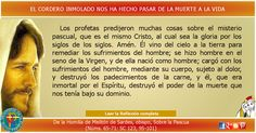 MISIONEROS DE LA PALABRA DIVINA: REFLEXIÓN - EL CORDERO INMOLADO NOS HA HECHO PASAR...