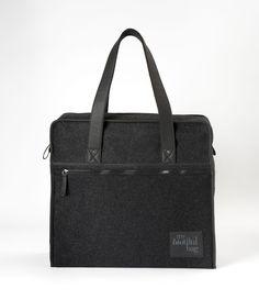 SAC WEEK-END LAINE NOIR / Nomade Collection / MY BIOTIFUL BAG