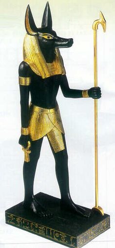 Anubis is the ancient Egyptian god of the dead - the ruler of the underworld.