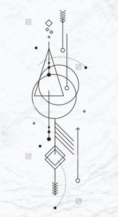 Wandgestaltung - Famous Last Words Geometric Tattoo Design, Geometric Designs, Henna Designs, Geometric Shapes, Tattoo Designs, Geometric Arrow Tattoo, Tattoo Ideas, Simbolos Tattoo, Body Art Tattoos