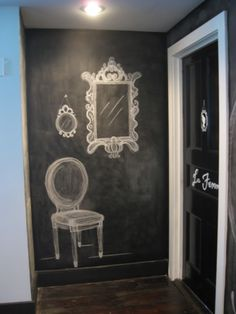 Since I don't have space in my bathroom for furniture...maybe I can draw it!! =)