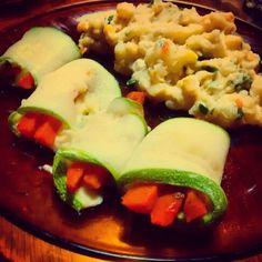 Rolls de zucchini, zanahoria y quesl Guarnicion: pure de papa con choclo y queso, condimentado con perejil y savora Encontra la receta en: https://m.facebook.com/comesano.cambiatuvida.com.ar #zucchini #saludablr #food #rolls #vegetariano #paleo #queso #zanahoria #papa #pure #choclo #guarnicion