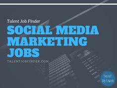 Social Media Marketing Jobs #talentjobfinder #visualcontenting #socialmedia #smm Social Media Marketing Jobs, Good Job, Career, How To Apply, Top, Carrera, Crop Shirt, Shirts