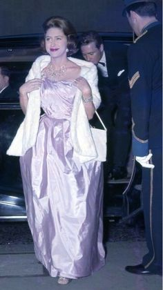 Princess Margaret in evening gown