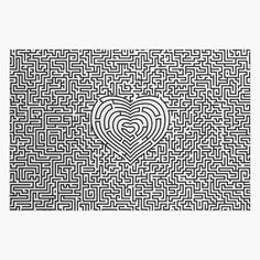 """Ultimate heart maze"" Jigsaw Puzzle by GrandeDuc 