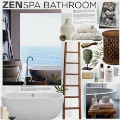 Ideas Bath Room Spa Zen Interior Design For 2019 Spa Bathroom Design, Zen Bathroom Decor, Bamboo Bathroom, Spa Like Bathroom, Bathroom Interior, Bathroom Ideas, Spa Bathrooms, Zen Home Decor, Bathroom Hacks