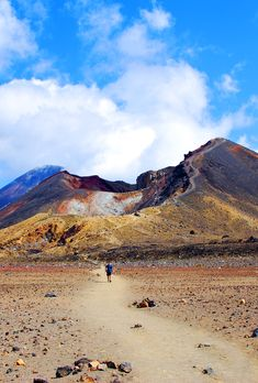 Red crater, viewed while on the Tongariro Crossing walk, Lower Central North Island, New Zealand