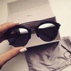 lentes negros dior
