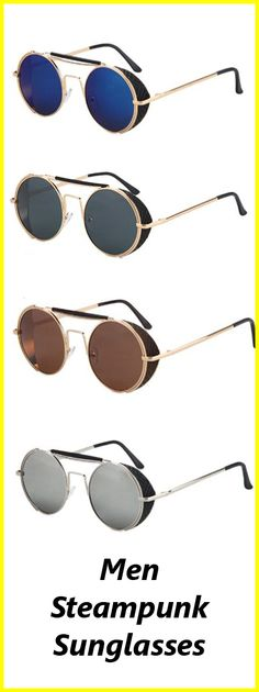 Get These Awesome Steampunk Mens Glasses! Not Sold In Stores! Get Yours Here ===> https://www.steampunkempirestore.com/products/cool-mens-steampunk-sunglasses