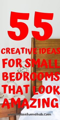 You still have options with your small bedroom. Small bedrooms can look amzing, be cozy and have storage. Small Master Bedroom, Small Bedrooms, Cozy Bedroom, Storage Hacks, Diy Storage, Modern Bedroom Decor, Bedroom Furniture, Wall Mounted Light, Bedroom Organization