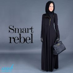 Hijab Fashion 2016/2017: Fashions coolest fabric continues its style evolution.. Aabs Kawasaki Abaya inspired by the seasons must-have piece : Bikers Jacket is the ultimate elegance with an edge.. SHOP NOW :www.aabcollection