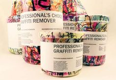 Graffiti Remover Branding is as Illustrated as the Walls it Washes trendhunter.com