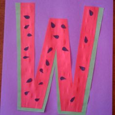 Letter W craft - could use fingerprints for seeds.
