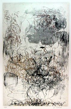 Artist: Joan Mitchell, Sunflower Etchings 1972