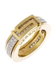 Versace Jewelry for Men | ... Jewelry,Men's 18k Gold Diamond Encrusted Ring, Men's Versace Rings