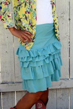 DIY Clothes DIY Refashion DIY The Ruffle Equation (Skirt)