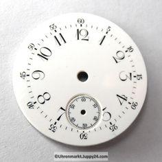 4 St. Emaille Zifferblätter für Taschenuhren, Zifferblatt, pocket Cooking Timer, 30, Watches, Enamel, Wristwatches, Clocks