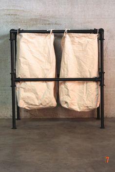 Panier à linge de style industriel - Meuble industriel salle de bain