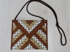 Bolso de log cabin Couture, Projects To Try, Patches, Quilts, Sewing, Jelly Rolls, Bags, Mantel, Sewing Diy