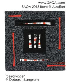 Art quilt by Deborah Langsam Strip Quilts, Quilt Designs, Textile Art, Benefit, Auction, Textiles, Abstract, Gallery, Colors
