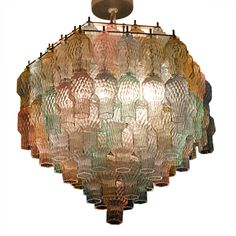 Italian Pastel Glass Chandelier, c.1960/Now this is totally different :-)
