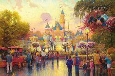 Thomas Kincaid Disney painting