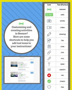 """85 Likes, 3 Comments - Seesaw Learning (@seesawlearning) on Instagram: """"Seesaw icons are a great tool for posting instructions for students in Activities!…"""""""