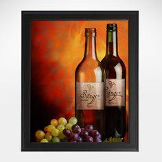 Ein Weinchen in Ehren... unser Weingemälde ist als stilvolles Geschenk zum Geburtstag oder zu Weihnachten für Weinliebhaber eine originelle Idee. Selbstverständlich mit Wunschnamen personalisierbar.