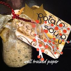 handmade gifts, gifts in a jar, potato soup, mason jar crafts, potato soup in a jar