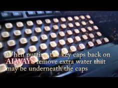 How To Clean Your Keyboard! Key Caps, Keyboard, How To Remove, Cleaning, Youtube, Home Cleaning, Youtubers, Youtube Movies