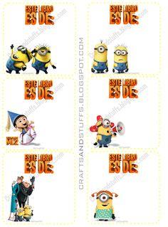 Free Printable Labels Dispicable Me 2 Etiquetas Escolares Gratis 2013 Mi Villano Favorito 2