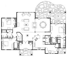 wisconsin log home: claremont floorplan with 2398 sf. nice open