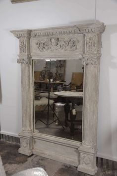 19th Century Italian Classical Columned Trumeau Mirror image 2