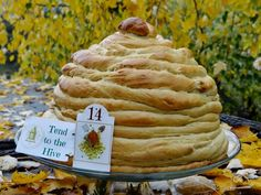 ...a quiet life...: garden advent dec 14th~Tend to the Hive. Recipes for Honey Bee Hive Bread and Honey Butter Ambrosia.