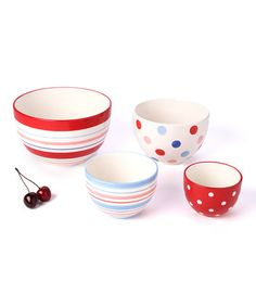 Berry Sweet Prep Bowl Set: I love colorful bowls for serving, too!