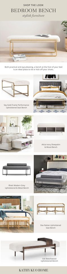 End Of Bed Bench, French Country Dining, Tufted Bed, Furniture Collection, Interior Design Living Room, Modern Furniture, Dining Bench, Dining Room