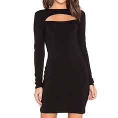 Jersey cut out midi dress Jersey cut out dress in black. The material is so nice and strechy. It is size medium but I think it might fit sizes small to large because of incredibly stretchy material95% rayon,5% spandex. Only worn once,so like new! Bobi Dresses Midi