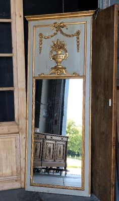 Antique french louis XVI trumeau - MIRRORS - European Antique Warehouse