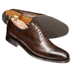 Brown luxury calf brogue shoes | Men's business shoes from Charles Tyrwhitt | CTShirts.com